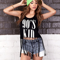 Fringed 90's Kid Tank