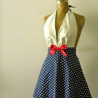 MAYA LUNE Sexy Nautical Sailor Marilyn Style Apron