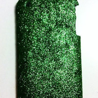 Green Glitter iPhone 3g 3gs Hard Case Cover by kaylafenton on Etsy