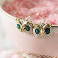 Hoot Owl Stud Earrings, Sweet Affordable Jewelry