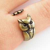 Vintage Owl Wrap Ring