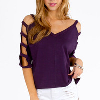 Ladder Sleeve Top $28