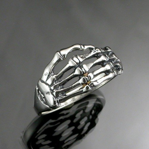 Sterling silver Skeleton Hand Ring | JewelerJim - Jewelry on ArtFire