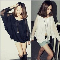 LADIES BAT SLEEVE FASHION TOP