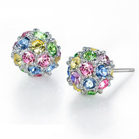 Color spherical earrings