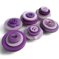 Button Magnets Purple Shades Handmade