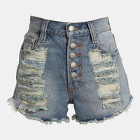 MINKPINK 'Exposed Slasher Flick' High Waist Cutoff Shorts | Nordstrom