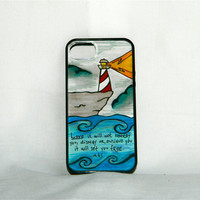 Mumford&#x27;s Guiding Light, iPhone case, iPhone cover, iPhone 5, Mumford and Sons, Sigh no more, lighthouse, water, nature, men, hipster, love