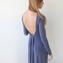 Purple , Maxi Dress , Open Back , Evening dress
