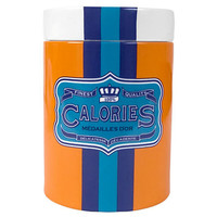 One Kings Lane - Designer Style - Carnaby Calories Vase w/ Lid, Orange