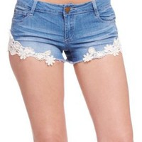 2B Denim Crochet Short:Amazon:Clothing