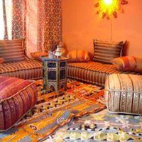 Moroccan sofa - living room set, moroccan party theme decor bedding