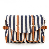 Mariner Satchel in Navy - ShopSosie.com