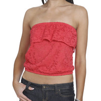 Eyelet Flounce Tube Top | Shop Tops at Wet Seal