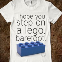 Lego, barefoot. - Hahaa. - Skreened T-shirts, Organic Shirts, Hoodies, Kids Tees, Baby One-Pieces and Tote Bags