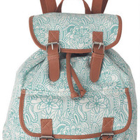 Teal Paisley Backpack