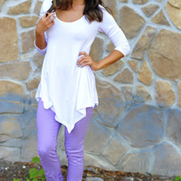 Comfort Is Key Tunic: White | Hope's
