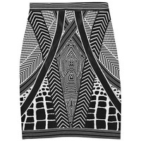 Geometric Jacquard Bandage Mini Skirt:Buy at Sheinside