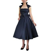 Plus Size 60's Rockabilly Black Party Swing Dress 18W