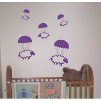 Amazon.com: Parachuting Sheep Decals Stickers Wall Art Graphic Baby Room Count Cute Animal Nursery Boy Girl Sleep Bedtime: Everything Else
