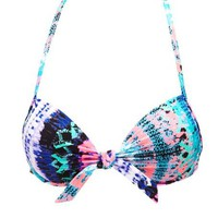 Tribal/Tie-Dye Bikini Top: Charlotte Russe