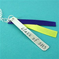 Class of 2013 Ribbon Necklace - Spiffing Jewelry
