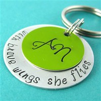 With Brave Wings Key Chain - Spiffing Jewelry