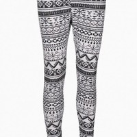 Aztec  Print  Leggings - AX Paris