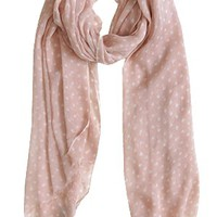 Dots of Adoration Scarf, Peach Blush