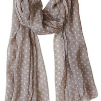 Dots of Adoration Scarf, Taupe