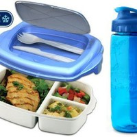 Stay-Fit Lunch 2 Go Container and 24oz Hydration Bottle Combo:Amazon:Kitchen & Dining
