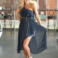 NAVY Scuttle One Side Ruffle dress