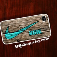 iPhone 5 Case Nike Mint Just Do It Wooden  - iPhone 4 4s Case