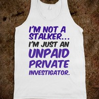 Investigator - Trendy Designs by Sofia - Skreened T-shirts, Organic Shirts, Hoodies, Kids Tees, Baby One-Pieces and Tote Bags