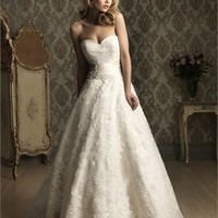 Romantic Sweetheart Neckline Empire Waist Lace Style Wedding Dress WD1587
