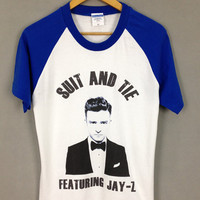 Justin timberlake shirt, suit and tie, jay-z, baseball t-shirt Unisex T-Shirt