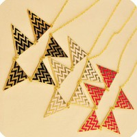 Fashion Triangle Shaped Geometric Bib Necklace at Online Jewelry Store Gofavor