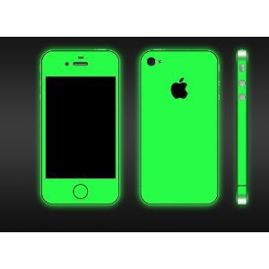 iPhone 4 and 4S Glow in the Dark Green Full Body Skin(DECAL) Kit