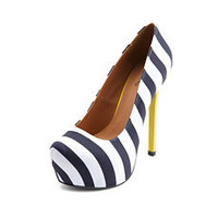Pop Color Striped Pump: Charlotte Russe