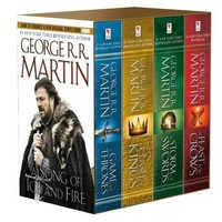 A Game of Thrones--4-Book Boxed Set--(A Song of Ice and Fire Series) by George R. R. Martin (Paperback)