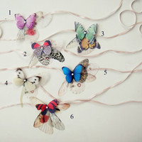 Butterflies all Over Necklace or Headband or Bracelet by jewelera