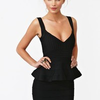 Peplum Bandage Dress in  Clothes at Nasty Gal