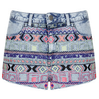 MOTO Acid Aztec Hotpant - New In This Week - New In - Topshop