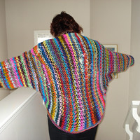 How to crochet walnut stitch on a net/ Shawl version