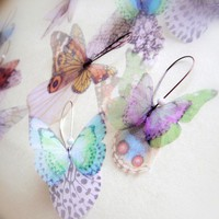 Butterflies all Over Organza Earrings PAIR by jewelera on Etsy