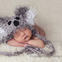 Newborn Crochet Hats Crochet Baby Hat Baby Girl by knoodleknits