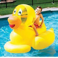 Swimline 9062 Swimming Pool Giant Inflatable Duck Float Kids Toy