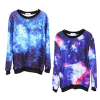 Fantasy Starry Sky Long-sleeved T-shirt