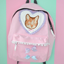 Pink fairy kei cat backpack