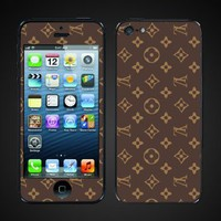 Apple iPhone 5 Skin cover- LV leather design vinyl skin